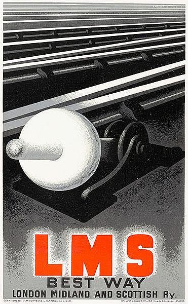 Plakate - - Cassandre, A. M. LMS Best way - London Midland and Scottish Rai