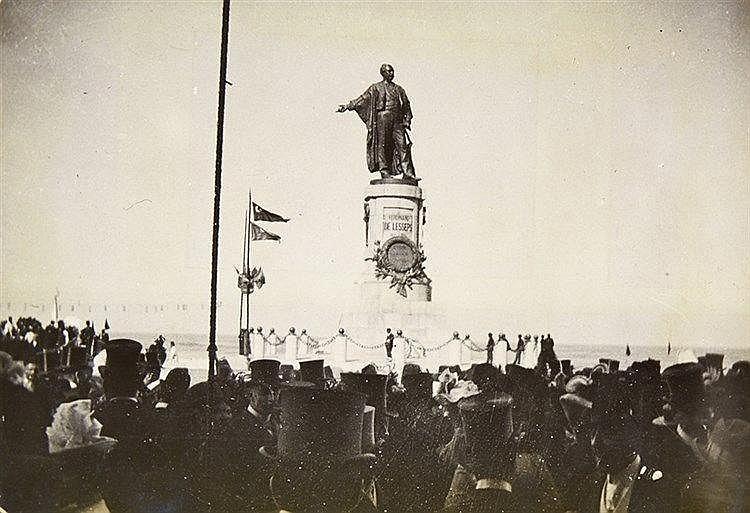 Ägypten - - Inauguration de la statue à Ferdinand de Lesseps 17 Novembre 18