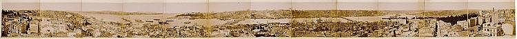 Türkei - - Constantinople. Panorama aus zwölf montierten Original-Photograp