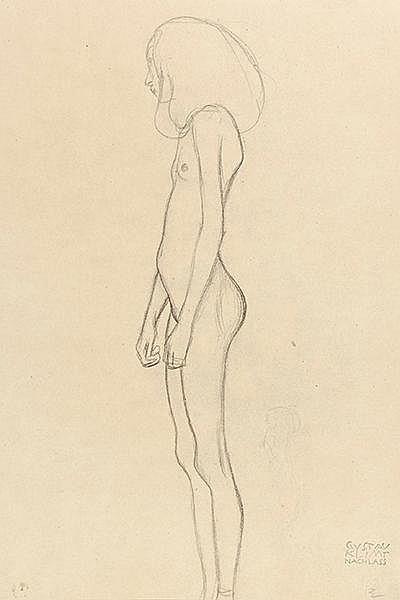 Klimt, Gustav - - Koschatzky, Walter (Hrsg.). Gustav Klimt. 25 Zeichnungen