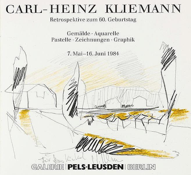 Kliemann, Carl-Heinz - - Sammlung von 16 Katalogen bzw. Werken mit eigenhän