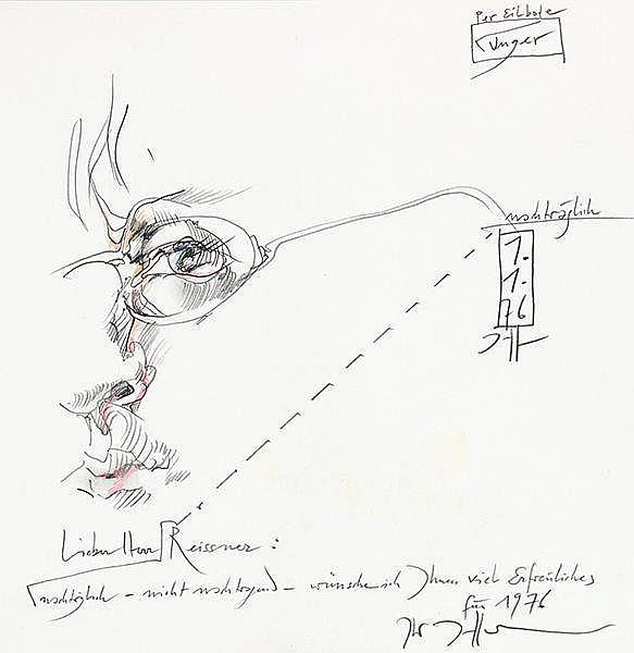 Janssen, Horst. Minusio. Mit 36 Farbtafeln nach Zeichnungen von Horst Janss