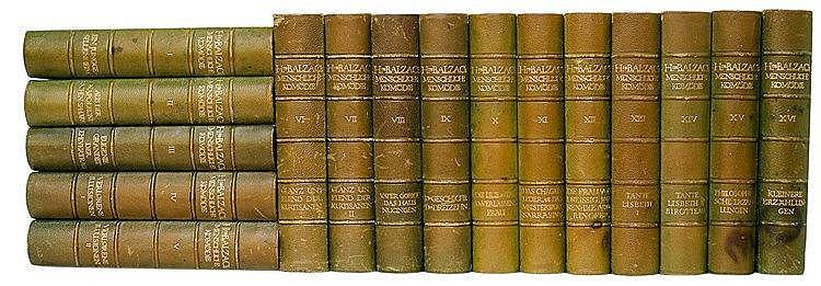 Insel Verlag - - Balzac, Honoré de. Menschliche Komödie. 16 Bände. Mit 1 Fr