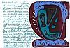 Zylla, Klaus - - Artaud, Antonin. Fragmente eines Höllentagebuchs. Serigrap, Antonin Artaud, €200