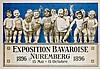 Plakate - - Riemerschmid, Richard. Exposition Bavaroise Nuremberg 1896. Far, Richard Riemerschmid, €800
