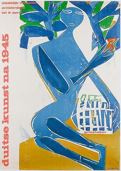 Plakate - - Grieshaber, HAP. Duitse kunst na 1945. Plakat für die Ausstellu