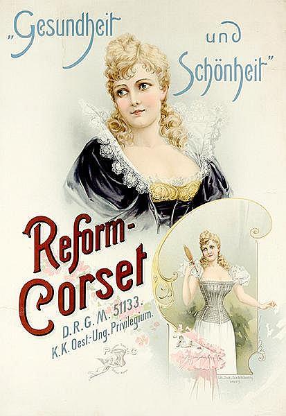 Plakate - - Gesundheit und Schönheit. Reform-Corset DRGM 51133. Chromolitho