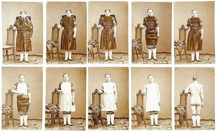 Erotica - Aktphotographie - - Suite von 10 Original-Photographien einer jun