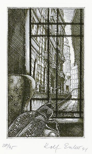 Escher, Rolf - - Kafka, Franz. Die Verwandlung. Sieben Radierungen zur glei