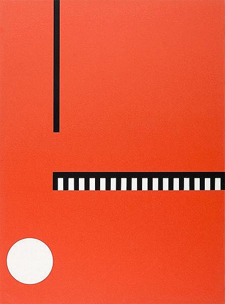 Buchholz, Erich. Op. 22. Farbserigraphie auf Papier. Verso mit gedruckter S