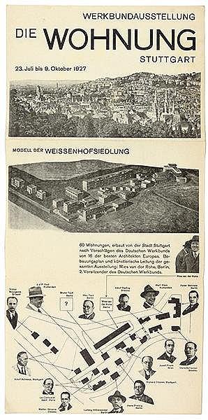 Bauhaus - - Baumeister, Willi. Werkbundausstellung