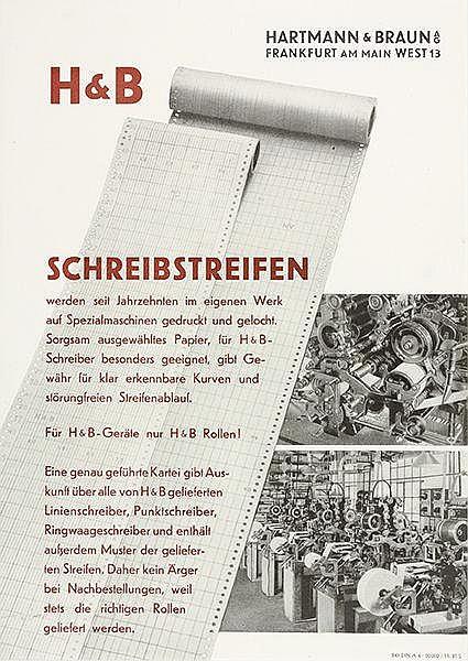 Typographie - - Baumeister, Willi. Sammlung von 6 Werbeprospekten für die H