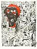 Verlon, André. Ohne Titel (Collage). Farblithographie auf Papier. Rechts un, Andre Verlon, €160