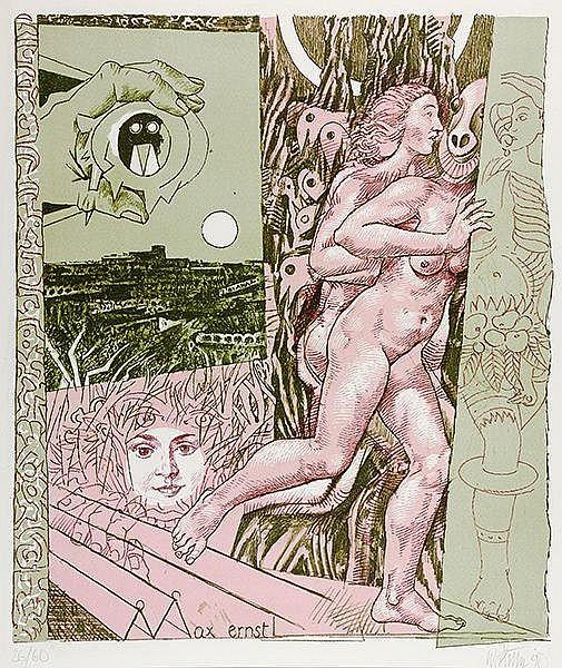 Sitte, Willi. In Hommage an Max Ernst, den Mitbegründer des Dadaismus und S