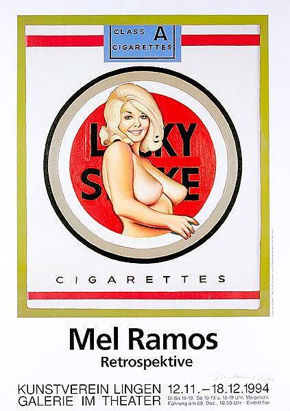 Ramos, Mel. Lucky Lulu Blonde. Ausstellungsplakat für die Retrospektive im