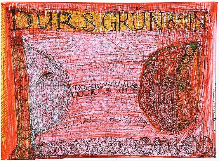 Meyer, Christoph - - Grünbein, Durs. Tschaikowski-Allee. Handgeschriebener