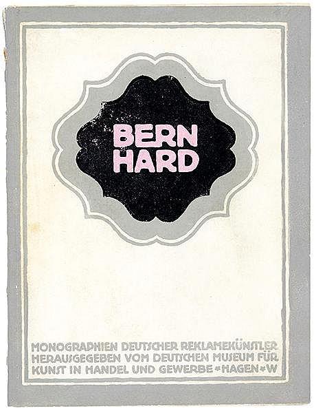 Werbung - Bernhard, Lucian - - Plietzsch, Friedrich. Lucian Bernhard. Mit t