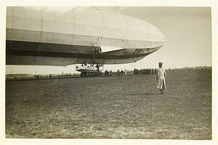 Varia - Luftfahrt - - Zeppelin. Sechs Original-Photographien. Vintages. Sil