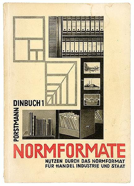 Typographie - - Porstmann, Walter. Dinbuch 1. Normformate. Im Auftrag des D