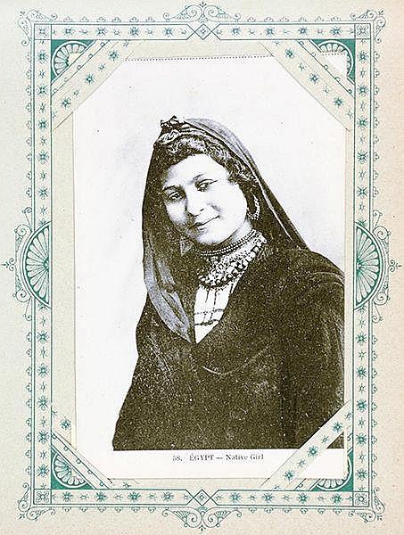 Orient - Arabien - - Album mit ca. 200 gesteckten, teils farbigen, Postkart