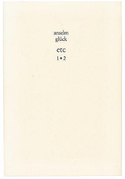 Glück, Anselm. etc 1 + 2. Verlegt für Anselm von Armin. (München, Armin Abm