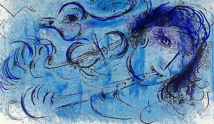 Chagall, Marc - - Lassaigne, Jacques. Chagall. Mit 15 (inklusive Umschlag,