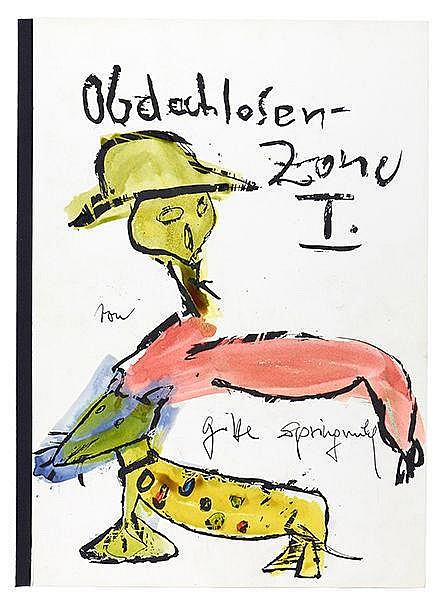 Springmühl, Gitte. Obdachlosen-Zone I. Mit 17, teils handkolorierten Serigr