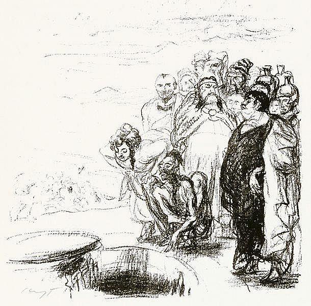 Slevogt, Max - - Flaubert, Gustave. Herodias. Mit 6 signierten Original-Lit