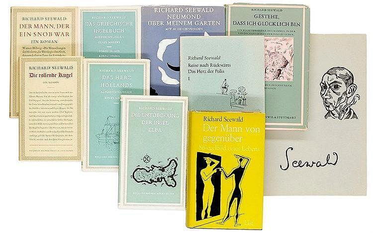 Seewald, Richard. Sammlung von 10 Widmungsexemplaren, alle für Hans Kinkel.