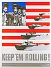 Plakate - - Lionni, Leo. Keep them rolling (Schnellboote). Farbiges Plakat., Leo Lionni, €300