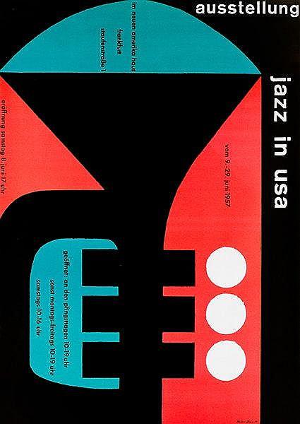 Plakate - - Müller, Felix und Karl O. Blase. Jazz in USA. Im neuen Amerikah