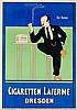 Plakate - - Rehm, Fritz. Der Kenner. Cigaretten Laferme Dresden. Chromolith, Fritz Rehm, €200