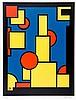 Koning, Dirk. Ohne Titel (Konstruktivistische Komposition). Farblithographi, Dirk Koning, €160