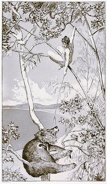 Klinger, Max. Bär und Elfe. Blatt 1 aus