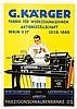 Plakate - - Sammlung von ca. 140 farbigen Kleinplakaten der deutschen Masch
