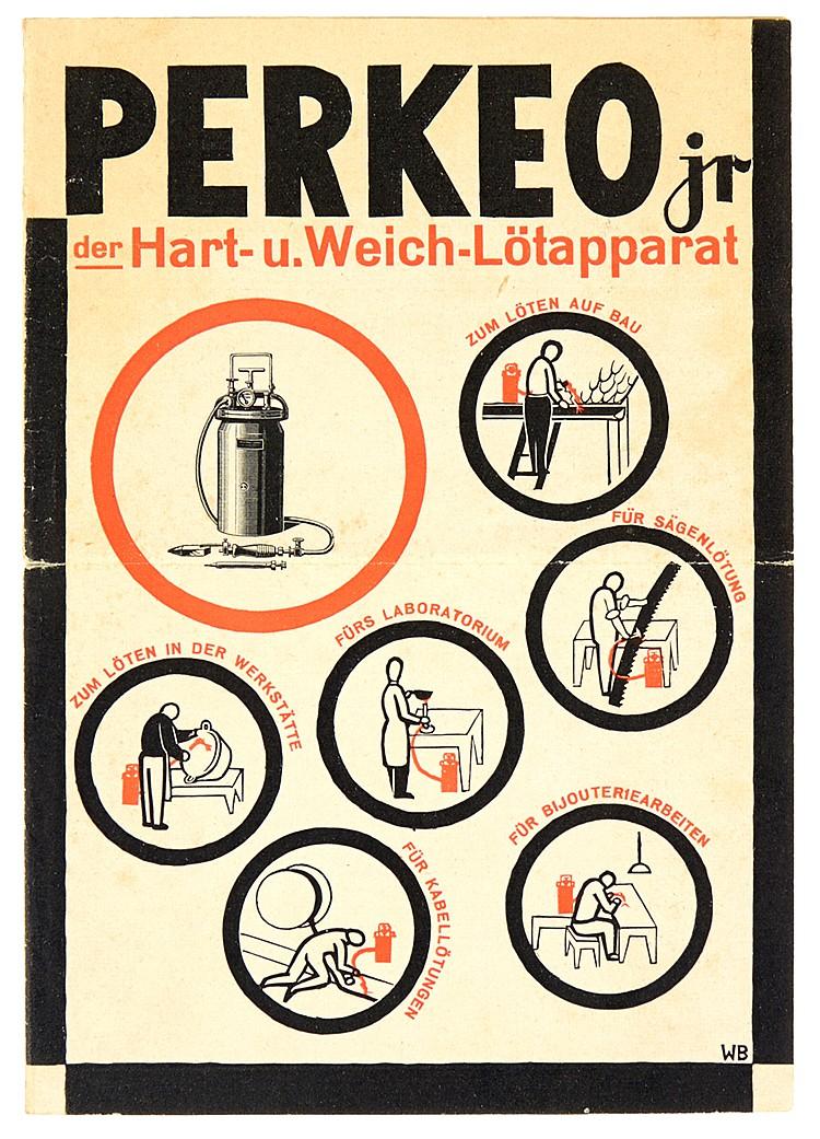 Typographie - - Baumeister, Willi. Perkeo jr. der Hart- u. Weich-Lötapparat