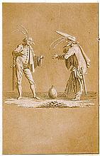 Hoffmann, Ernst Theodor Amadeus. Prinzessin Brambilla. Mit 8 Kupfern in Sep