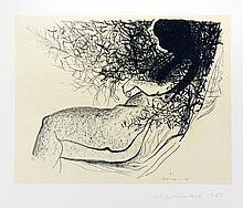Dumas, Marlene  Doornrosie. Farblithographie a