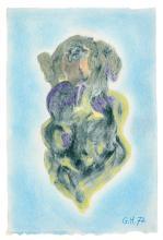 Hugnet, Georges - Ohne Titel. (Frauen-Doppelporträt). Pastell auf Velin. Re...