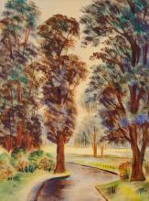 Arnold, Christian - Park mit Bäumen.