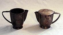 Alpacca teapot and milk jug, Gio Ponti, Fratelli Calderoni, Anni Trenta