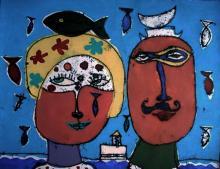 Original Mixed Media on Archival Paper, by Juan Marrero. Cuban Artist.