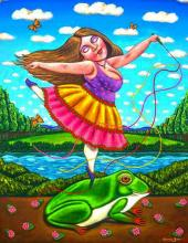 Original Acrylic on Canvas, by German Rubio. Mexican Folk Art