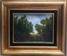 Original Oil on Canvas-Trough by Espinosa
