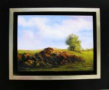 Original Oil on Canvas-Rocks by Espinosa