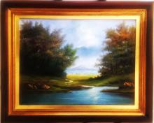 Original Oil on Canvas-Beautiful Waters by Espinosa