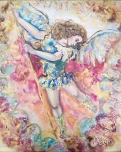 Original Mixed Media on Canvas-Archangel Michael