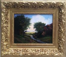 Original Oil on Canvas-Country Landscape by Espinosa