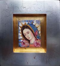 Original Mixed Media on Canvas-Virgin Mary
