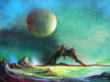 Original Mixed Media on Canvas-Cosmic Mirage by Espinosa